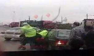 واکنش پلیس به انتشار فیلم کتک زدن یک راننده+فیلم