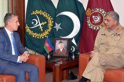رایزنی فرمانده ارتش پاکستان با سفیر آذربایجان