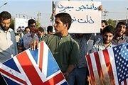 دانشجویان دانشگاه تهران هم «برجام» و «پرچم آمریکا» را به آتش کشیدند