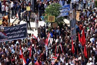 تظاهرات مردم سوریه علیه آمریکا