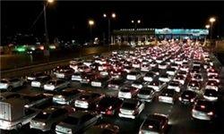 ورودی های تهران قفل شد/ ترافیک شدید در محورهای شرقی تهران