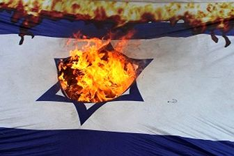 خشم آلمانی ها از رژیم صهیونیستی/ آتش زدن پرچم اسرائیل در کلن