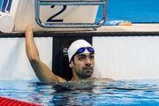 شناگر ایرانی دوباره طلایی شد