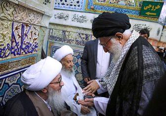 دیدار آیتالله وحید خراسانی با امام خامنهای/ عکس