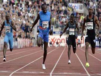Usain Bolt pips Asafa Powell in Diamond League ۱۰۰m
