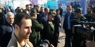 بازدید فرمانده سپاه پاسداران از شهر آبی خرمشهر