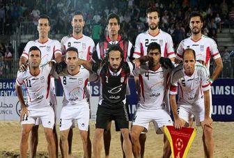 ایران به نیمه نهایی فوتبال ساحلی بین قاره ای صعود کرد