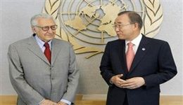 تلاش بان کیمون و اخضر الابراهیمی برای حل بحران سوریه