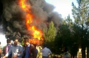 مهار آتش سوزی در شهرک شهید سلیمی آذربایجان شرقی