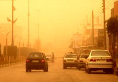 ورود یک توده هوای غبار آلود