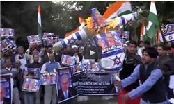 هندی ها نتانیاهو را آتش زدند