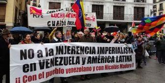 سفر «گوایدو» به مادرید، مخالفان و حامیان اسپانیایی را به خیابان کشاند