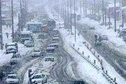 بارش برف در کرج/ گزارش تصویری