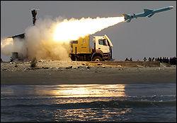 تمرین یگان موشکی سپاه در خلیجفارس