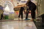 غبارروبی حرم مطهر حضرت عباس(ع)/ گزارش تصویری
