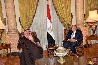 رایزنی وزیر خارجه مصر با وزیران خارجه بحرین و اردن
