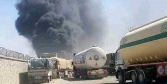 آتش سوزی در گمرک فراه در مرز ایران و افغانستان+تصاویر