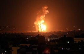 حمله جنگنده های رژیم صهیونیستی به پست برق در غزه+فیلم