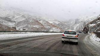 بارش برف و باران در محورهای 13 استان
