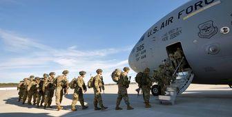 خروج نیروهای آمریکایی از یک پایگاه در جنوب افغانستان