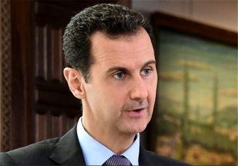 عیادت بشار اسد و همسرش از کشیش کلیسا+تصاویر