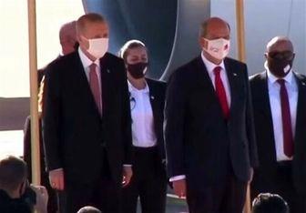 اردوغان به قبرس شمالی سفر کرد