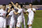 پیروزی تیم فوتبال امید در اولین دیدار دوستانه مقابل سوریه