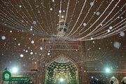بارش برف پاییزی در حرم امام رضا(ع)/ گزارش تصویری
