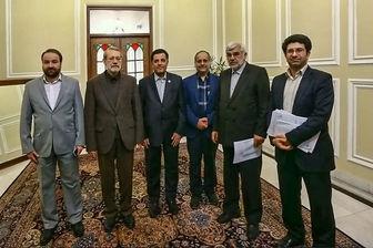 دیدار رئیس جمعیت هلال احمر با علی لاریجانی