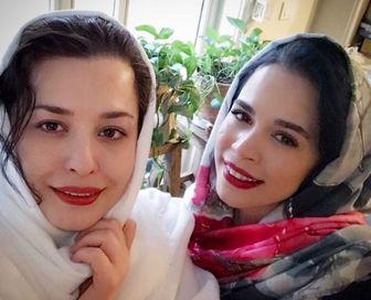 شب خواهرانه ملیکا و مهراوه شریفی نیا/ عکس