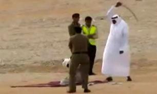 اعدام متهم با شمشیر در عربستان + فیلم(+ ۱۸)