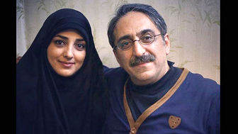 مجری مشهور و همسرش در پشت بام حرم امام حسین(ع)