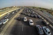 ترافیک در محور کرج-تهران نیمهسنگین است