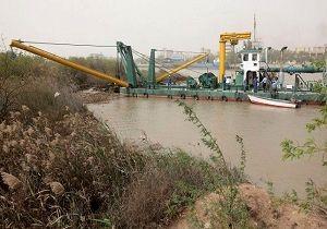 تشریح عملیات لایروبی رودخانه کارون