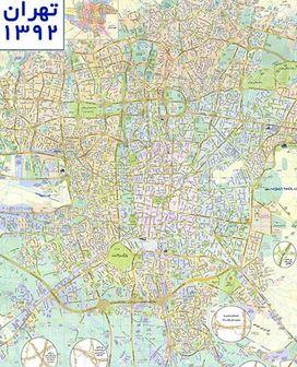 نقشه تهران ۹۲ با جزئیات دقیق + دانلود