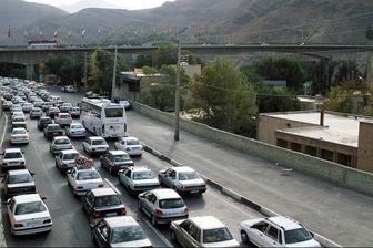 ترافیک نیمه سنگین آزادراه کرج