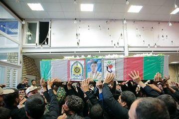 """تشییع پیکر مرزبان شهید """"جلال بهبودی""""/ گزارش تصویری"""