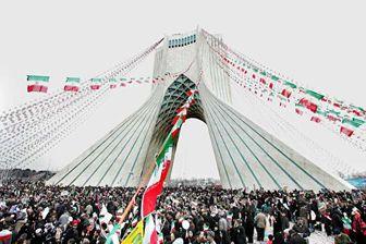 حضور پر رنگ قهرمانان و مسئولان ورزشی در راهپیمایی 22 بهمن+تصاویر