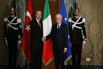 دیدار رؤسای جمهور ترکیه و ایتالیا در رم