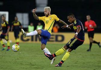 پیروزی برزیل در مقابل کلمبیا در دیداری دوستانه