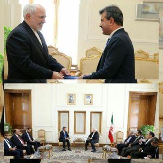دیدار سفیر جدید افغانستان با ظریف