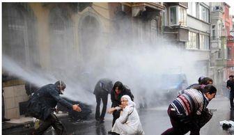 درگیری پلیس ترکیه با تظاهرکنندگان