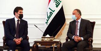 دیدار رئیس منطقه کردستان عراق با الکاظمی