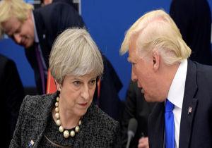 """تفاهم تلفنی """"ترامپ"""" و """"ترزا می"""" برعلیه سوریه"""
