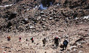 با کمک نیروهای هلال احمر؛ کوه نورده مفقود شده نجات یافت