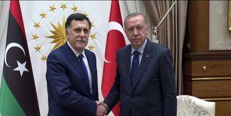 دیدار خصوصی رئیس دولت وفاق ملی لیبی و اردوغان