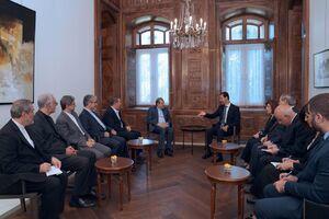 دیدار بشار اسد با هیئت ایرانی