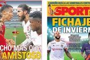 مطبوعات اسپانیا /تقابل رونالدو و راموس؛ فراتر از بازی دوستانه