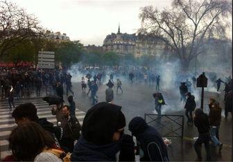 اعتراضات مردم پاریس به اصلاحات قانون کار ادامه دارد