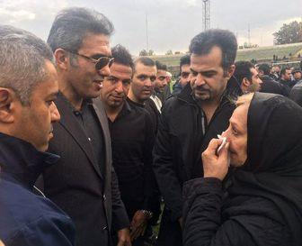 عابدزاده به همسر حجازی تسلیت گفت+ عکس